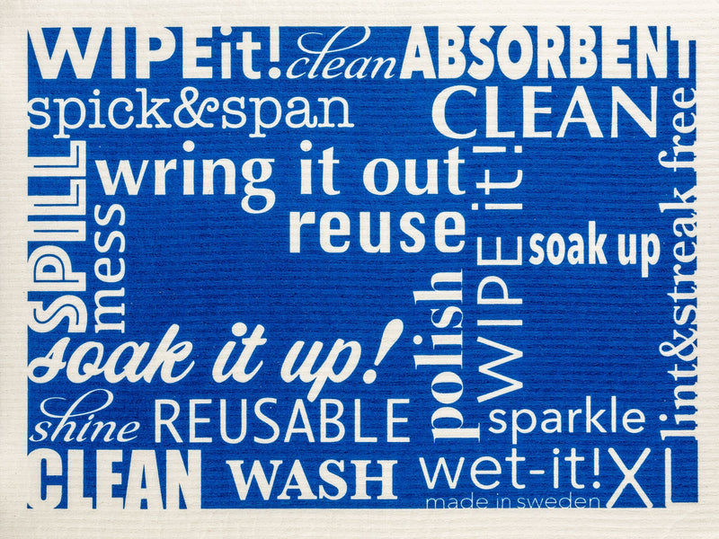 words blue XL