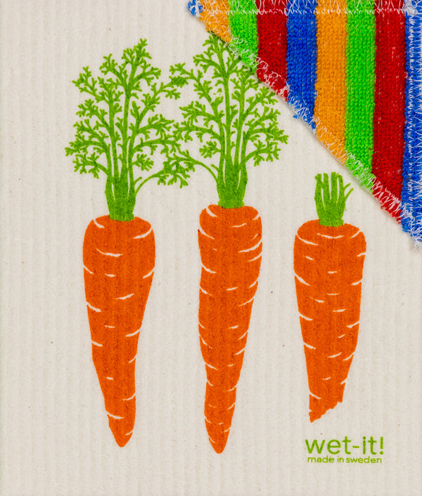 carrots by row wet 'n scrub