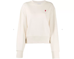 Ami De Coeur Patch Sweatshirt WHITE