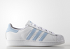 ADIDAS SUPERSTAR BABY BLUE STRIPE