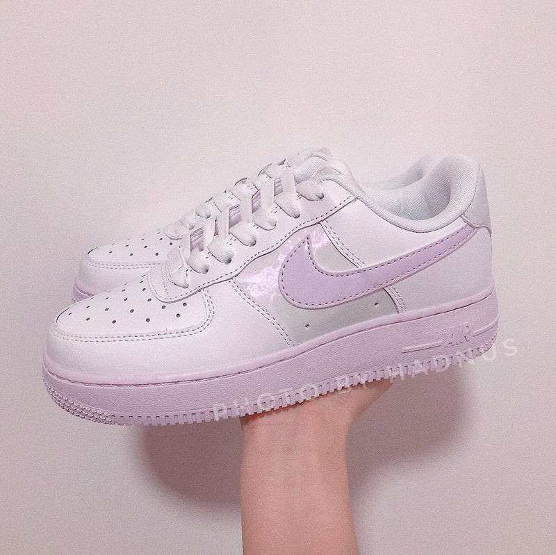 Nike Air Force 1 粉紫色