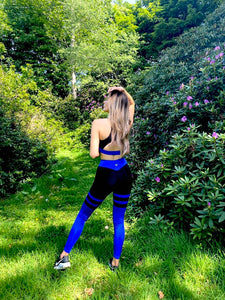 Classic Sapphire Blue High Waisted Leggings