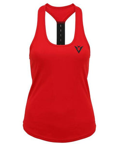 Wave Chilli Red Strap Back Vest