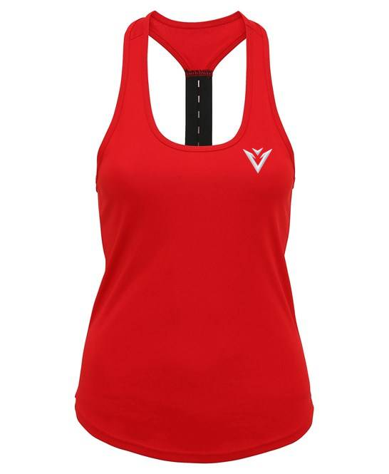 Women's Vest Red Vest Strap Back Vest Workout Vest
