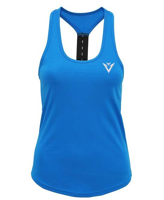 Women's Vest Gym Vest Tank Top Strap Back Vest Blue Vest