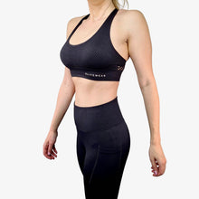Load image into Gallery viewer, Luna Sports Bra Black
