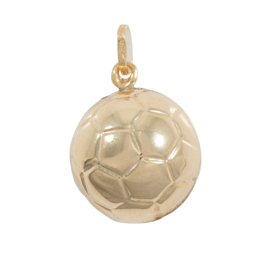 9ct Gold Football Charm Pendant