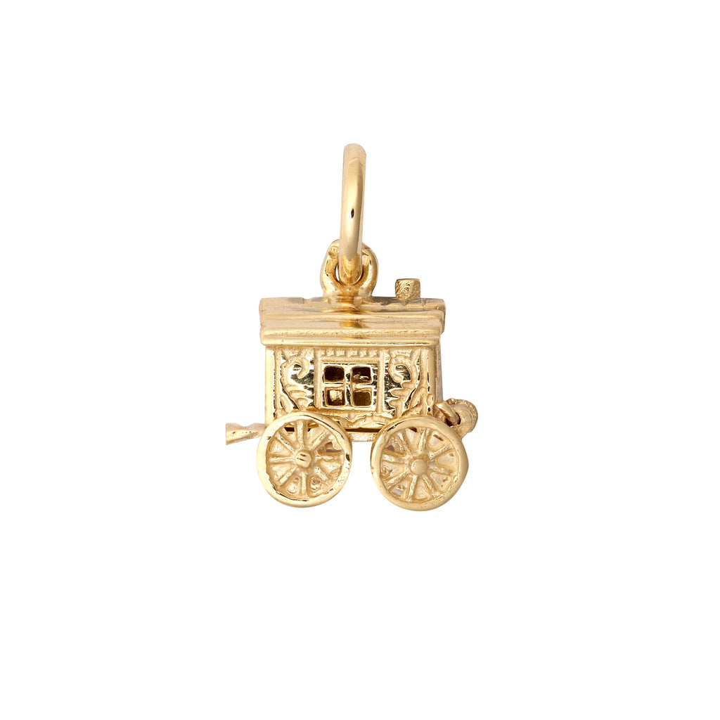 9ct Yellow Gold Opening Caravan Pendant