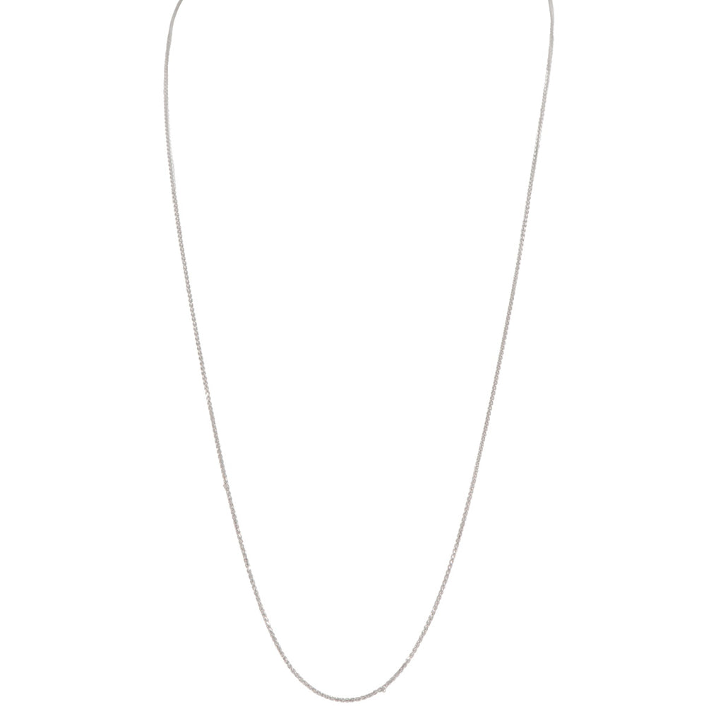 9ct White Gold Double Spiga Chain - 18 inch