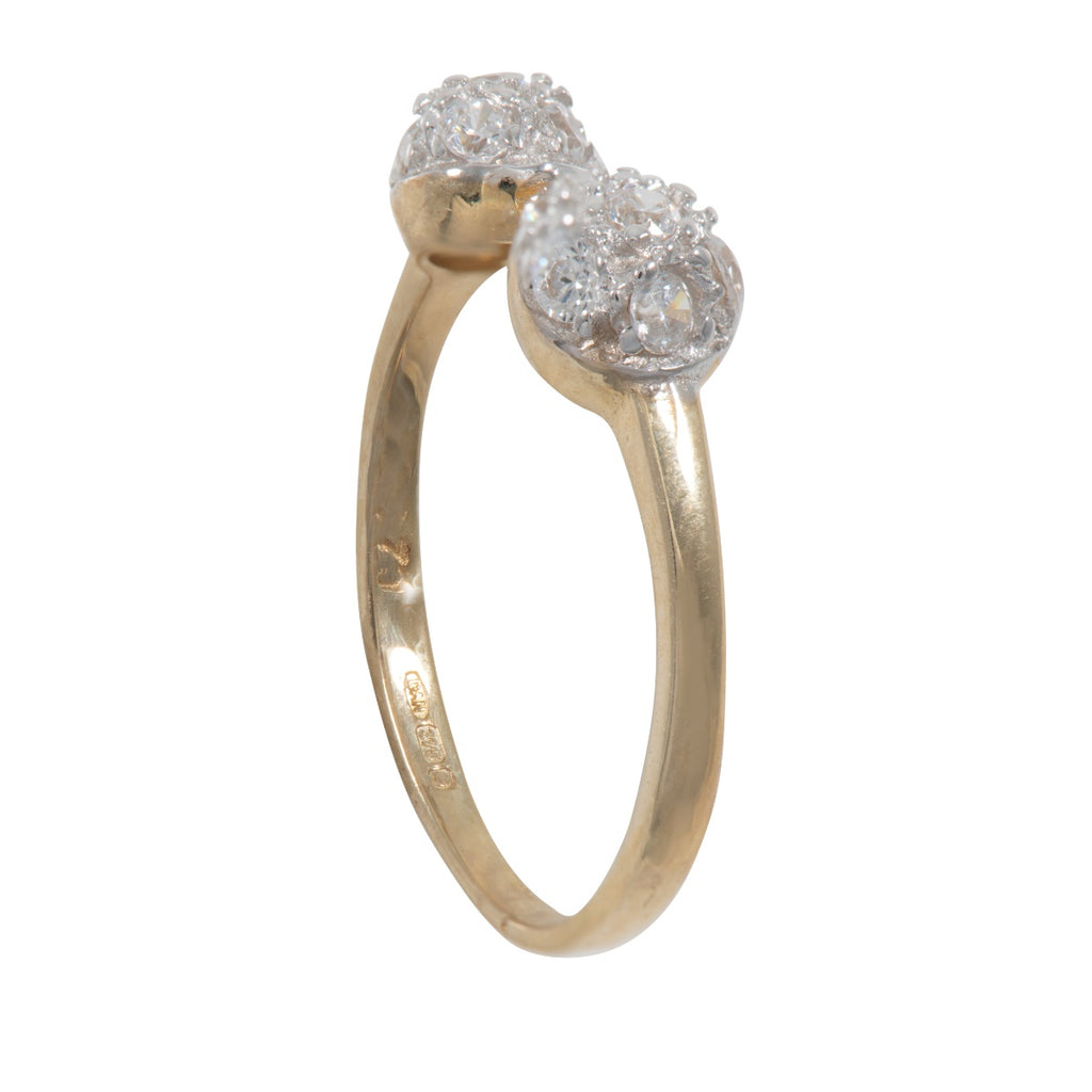 9ct Gold Cubic Zirconia Toe Ring