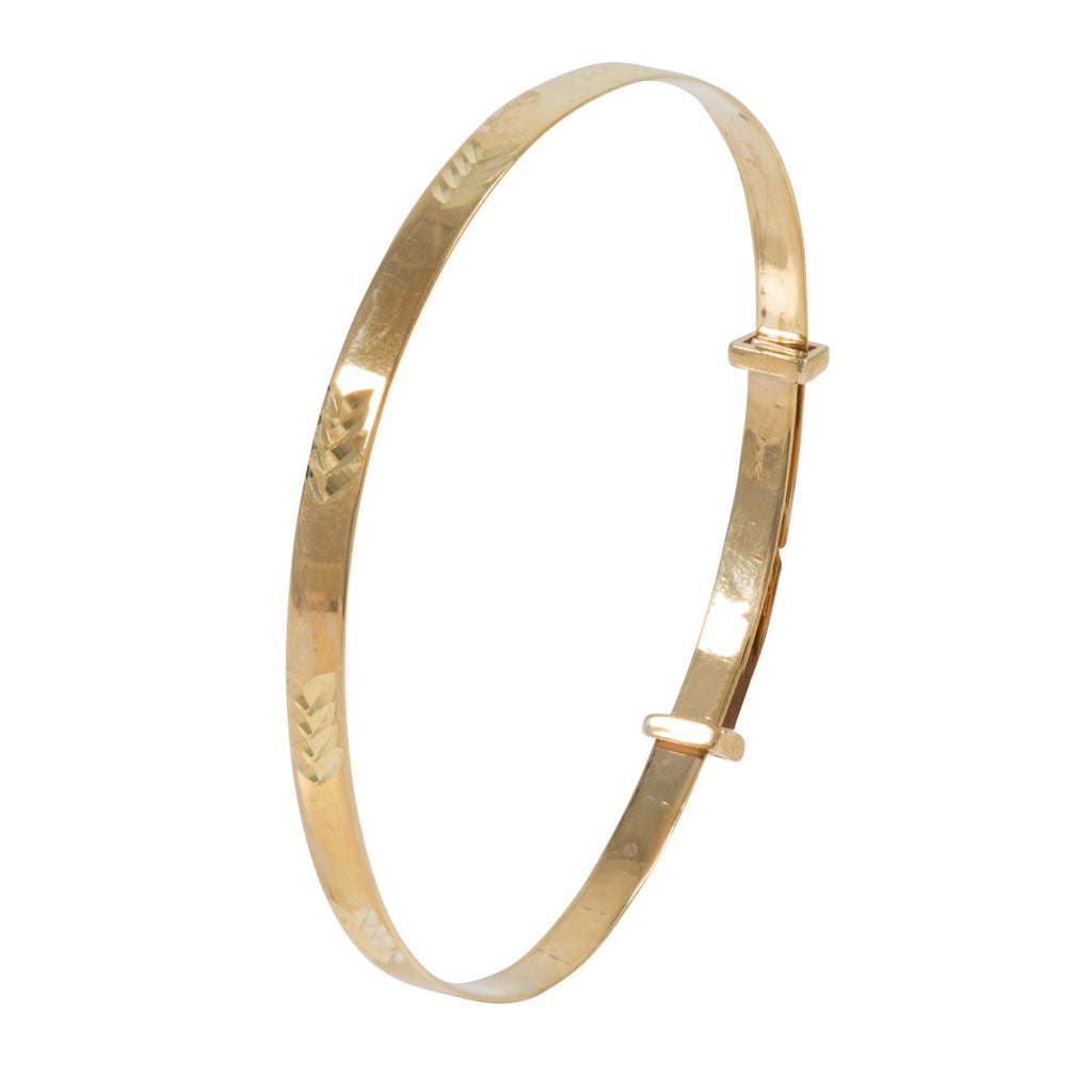 9ct Gold 3mm Baby Bangle