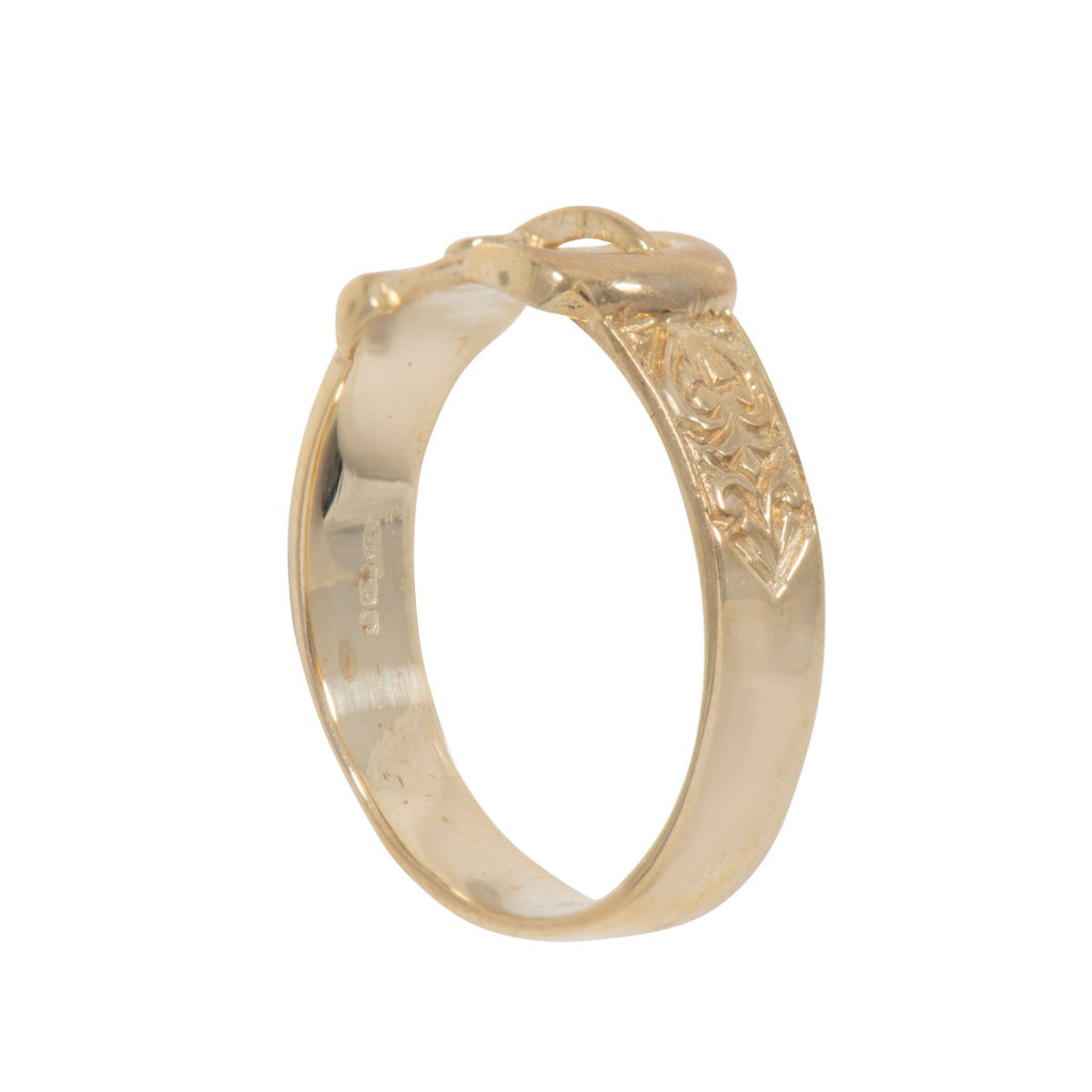 9ct Gold Kids Buckle Ring