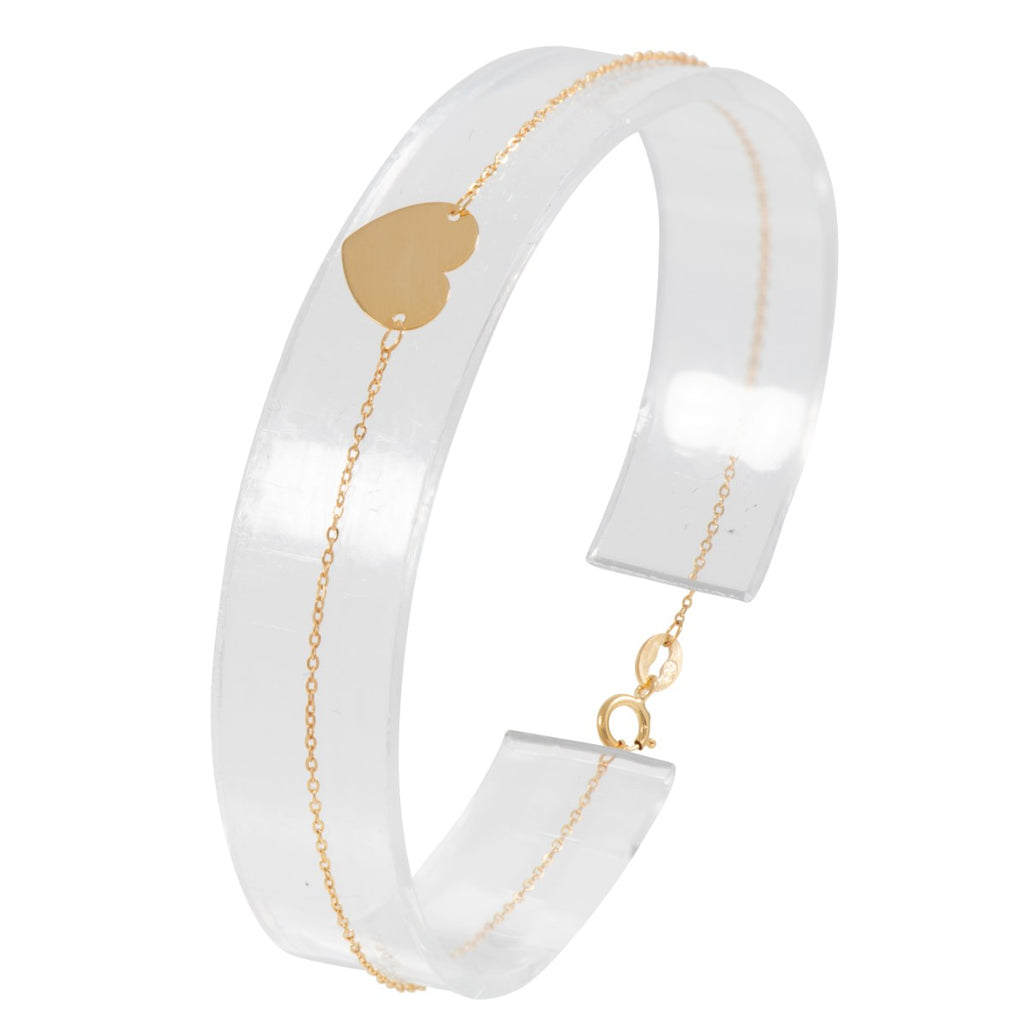 9ct Gold Fancy Heart Bracelet