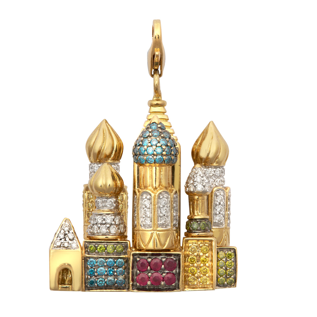Ladies 18ct Gold Diamond Kremlin Pendant