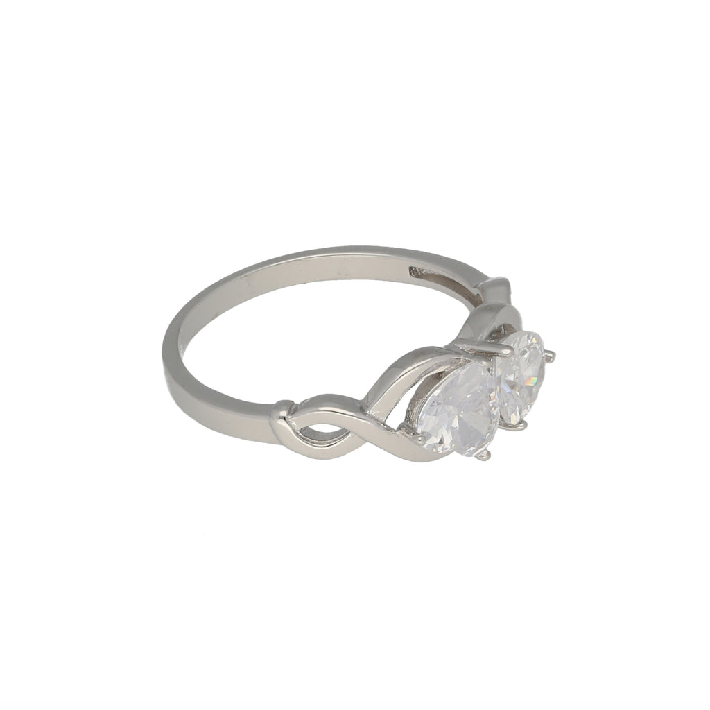Sterling Silver Baguette Cubic Zirconia Band Ring