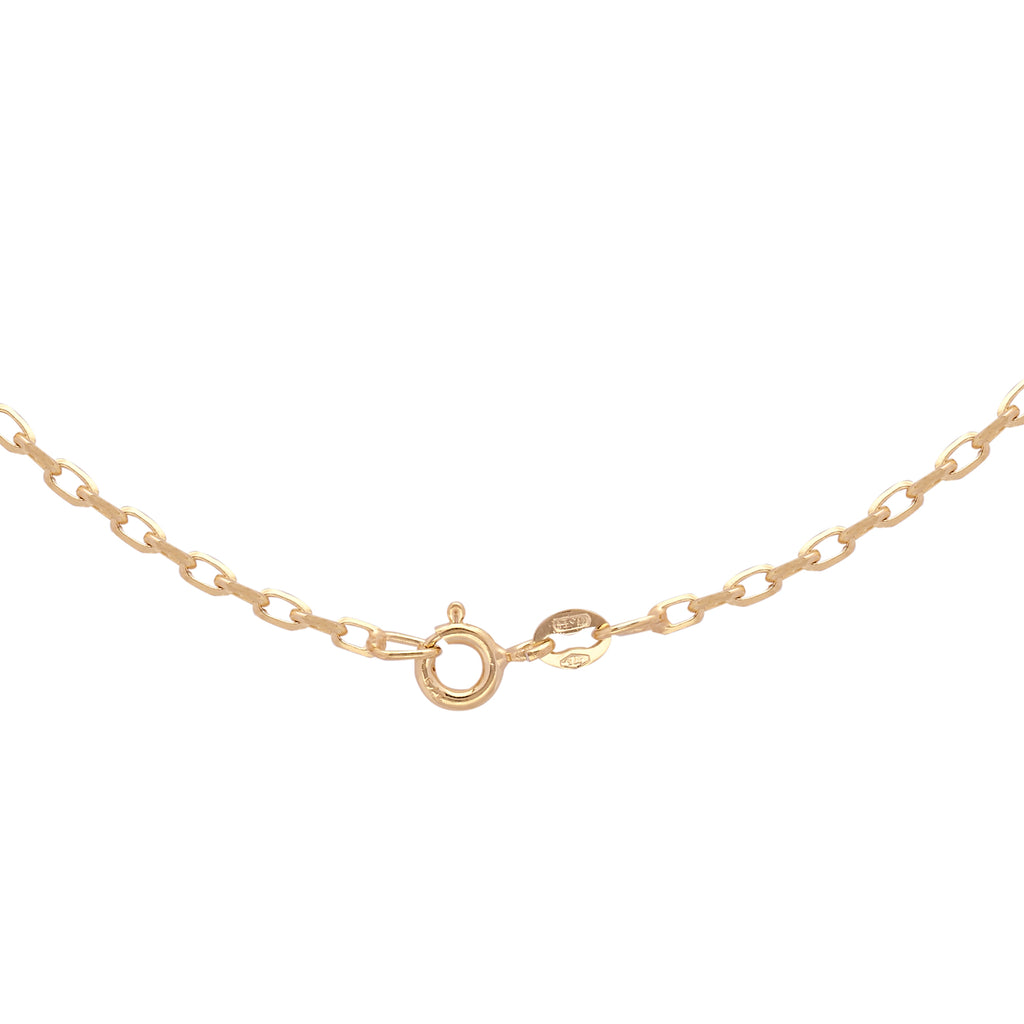 9ct Yellow Gold Diamond Cut Belcher Chain 24 Inch