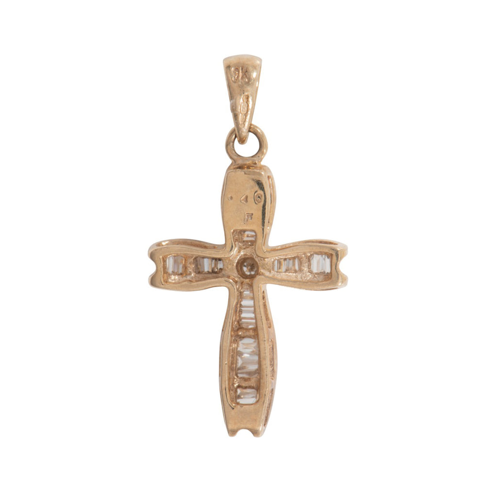 9ct Gold 0.2ct Diamond Cross Pendant