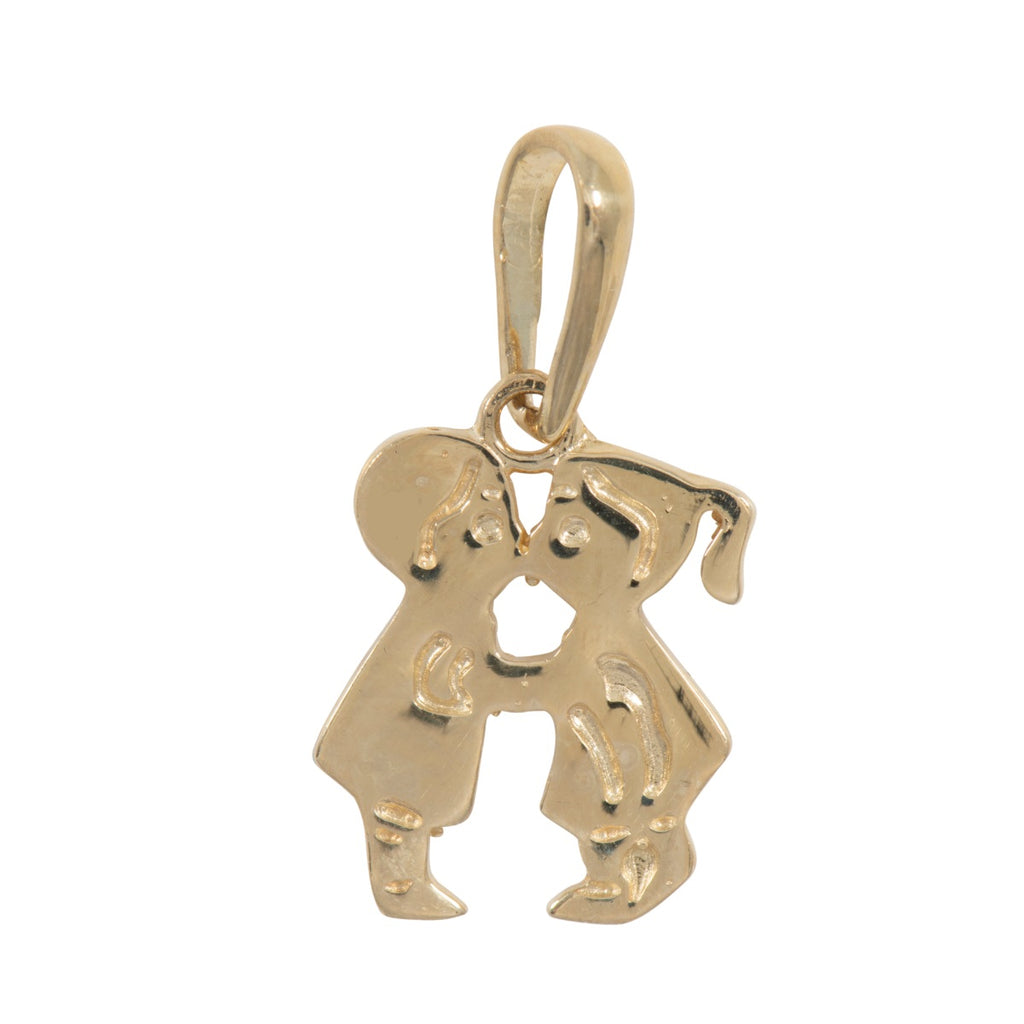 9ct Gold Boy & Girl Kissing Pendant