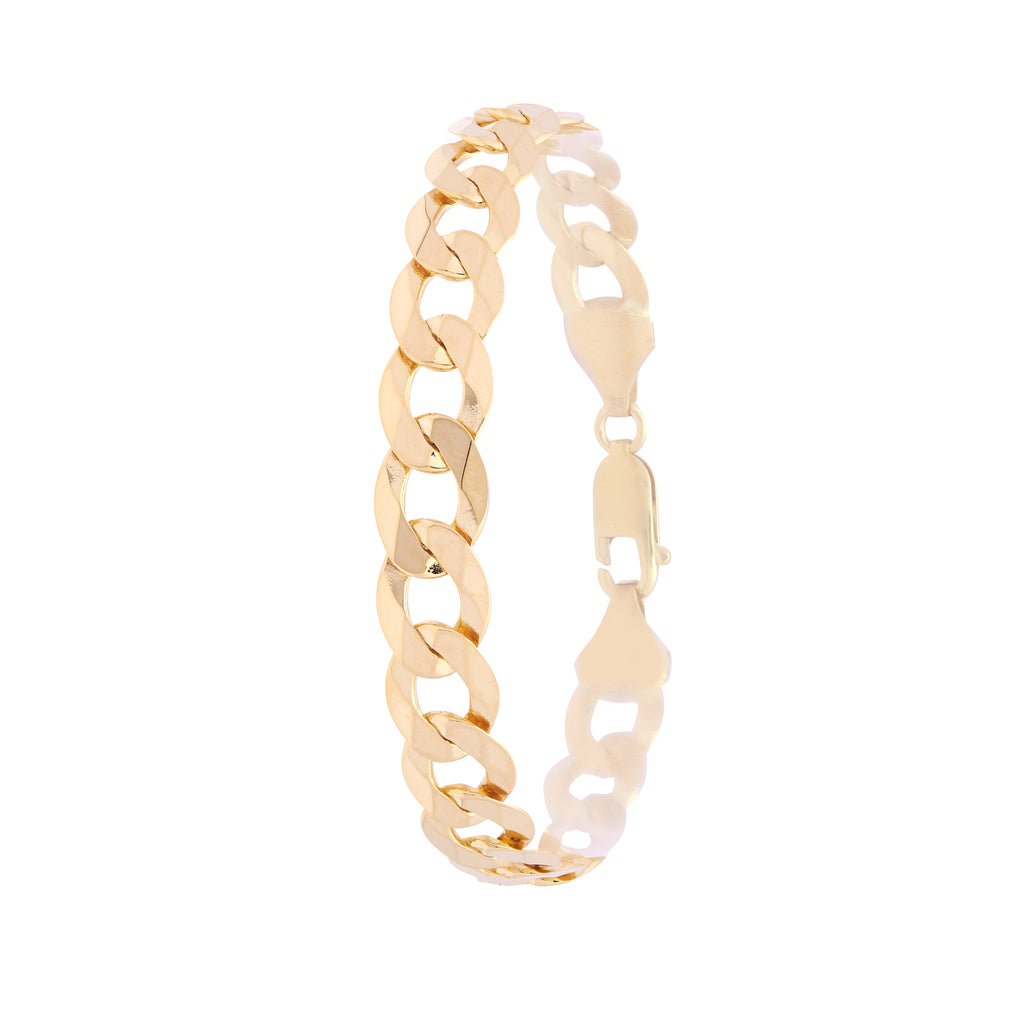 9ct Yellow Gold Super Flat Curb Chain Ladies