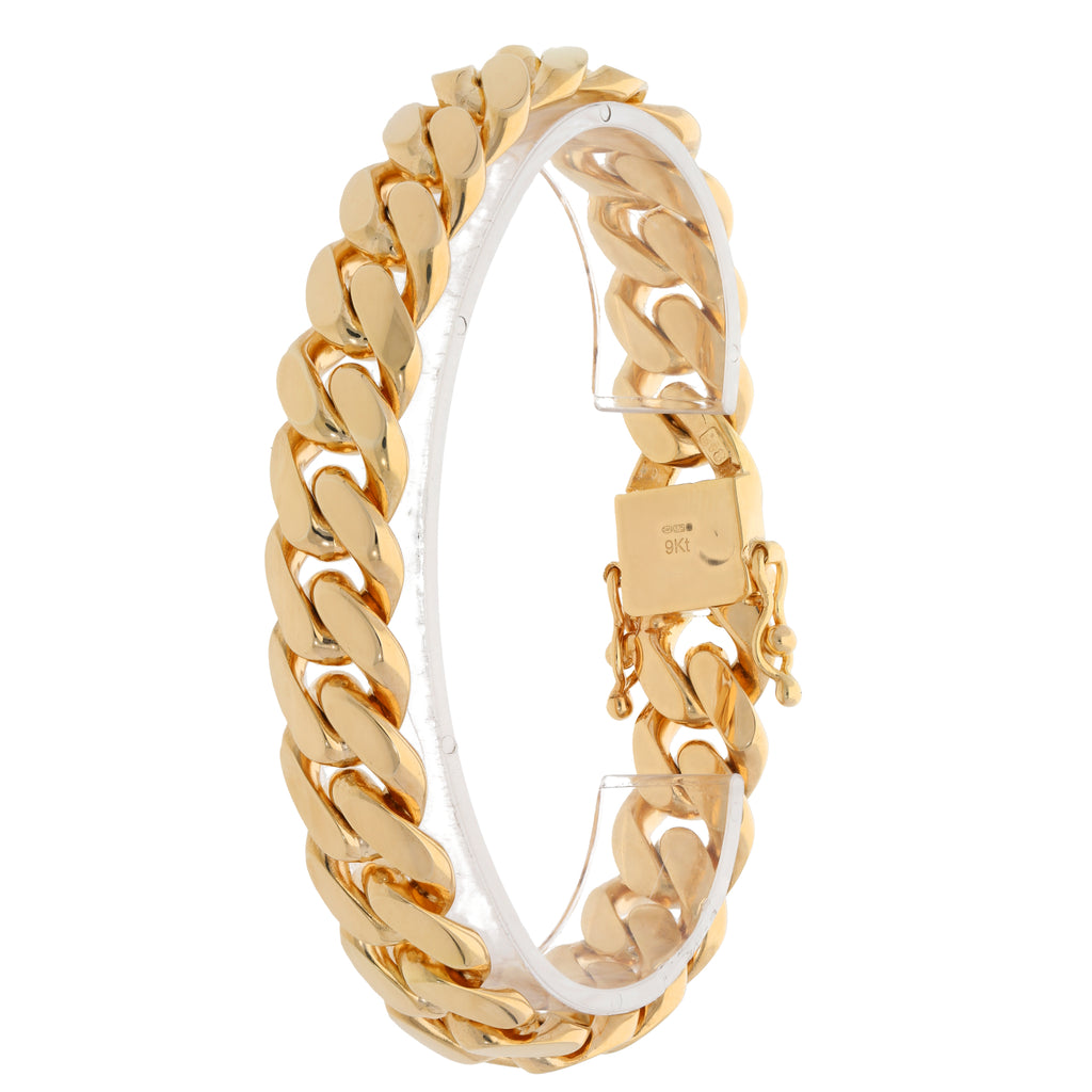 9ct Gold 14mm Gents Cuban Bracelet