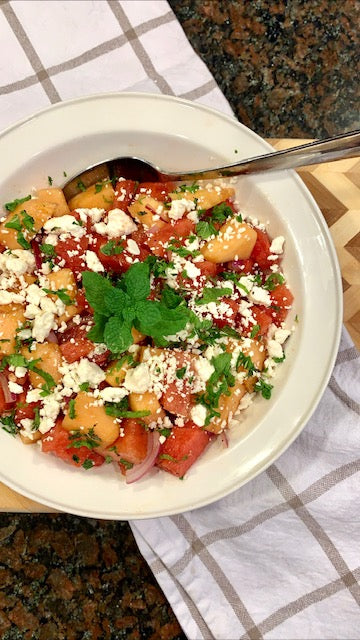 The Curated Table's Watermelon Feta Salad