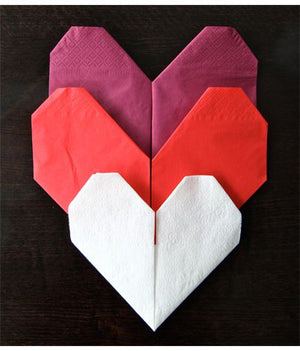 Heart Napkin Folding Instructions