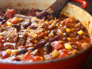 The Curated Table Pulled Pork Chili Recipe