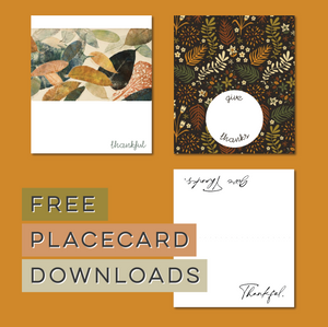 Free Thanksgiving Placecards