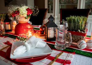 Cardinals Watch Party Tablescape