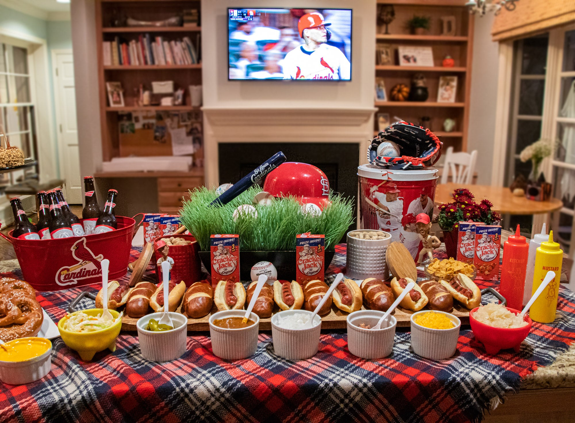 Post Season Buffet Tablescape