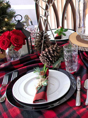 Rustic Holiday Tablescape