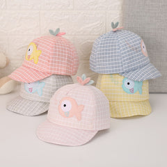 New Infant Toddler Kids Baby Caps Girl Boys Summer Sun Hats Cotton Baseball Cap