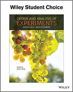 Design and Analysis of Experiments 9th Edition