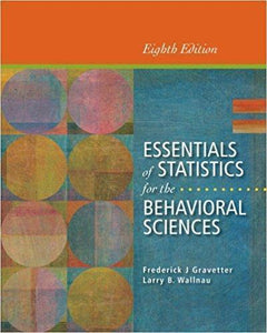 Essentials of Statistics for the Behavioral Sciences 8th Edition
