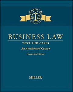 (eBook PDF) Business Law: Text & Cases – An Accelerated Course 14th Edition