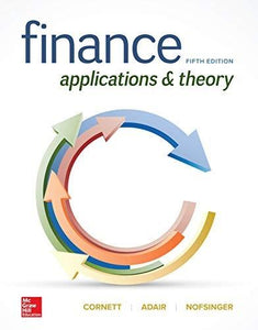 (eBook PDF) Finance: Applications and Theory 5th Edition by Marcia Cornett