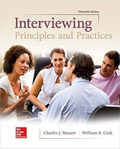 (eBook PDF) Interviewing: Principles and Practices 15th Edition