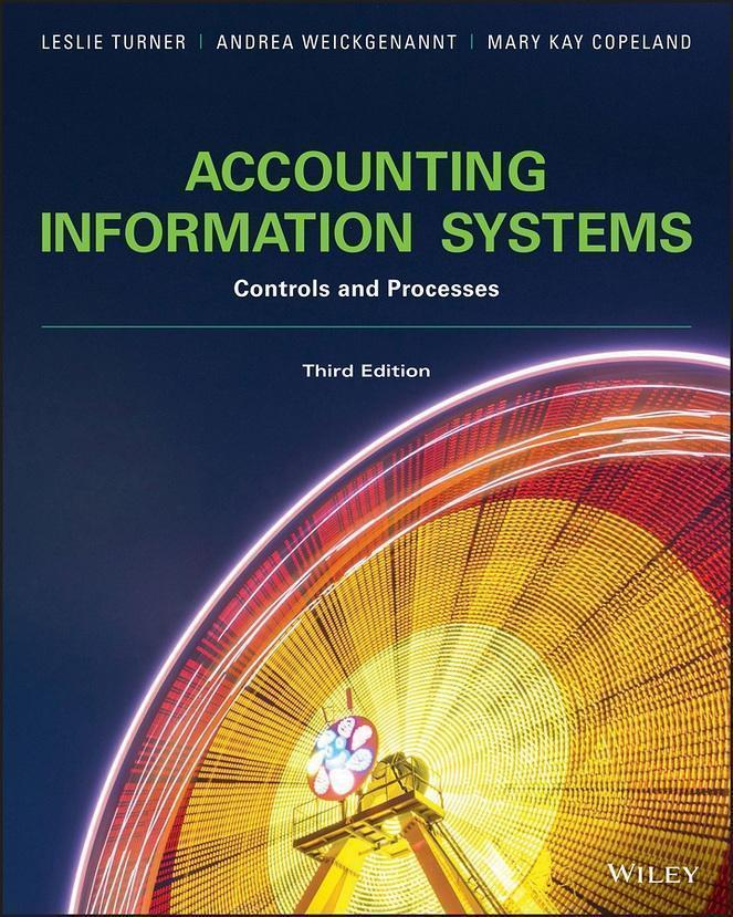 Accounting Information Systems: The Processes and Controls, 3rd Edition