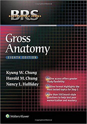 BRS Gross Anatomy (Board Review Series) Eighth Edition
