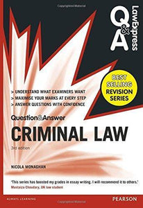 Criminal Law (Q&A revision guide) 3th Edition