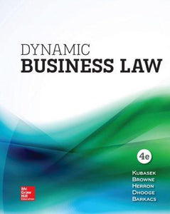Dynamic Business Law 4th 4E Nancy Kubasek