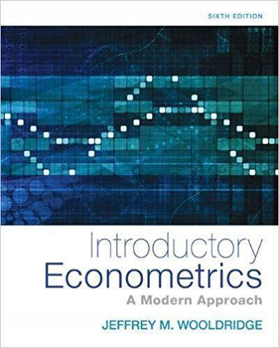 Introductory Econometrics A Modern Approach 6th