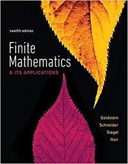 Finite Mathematics & Its Applications 12th Edition