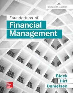 Foundations of Financial Management 16th 16E