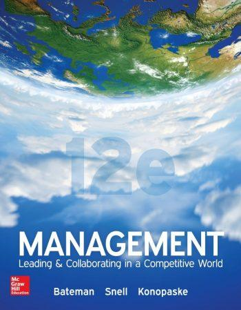 Management 12th 12E Thomas Bateman