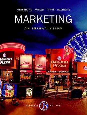 Marketing: Intro. -Text (Canadian) 6th 6E Gary Armstrong