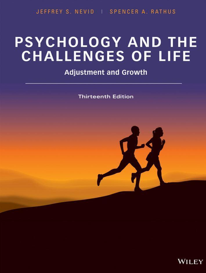 Psychology and the Challenges of Life 13th Edition