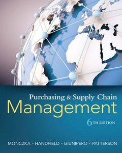 Purchasing and Supply Chain Management 6th 6E