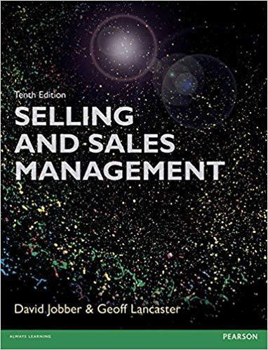 Selling and Sales Management 10th