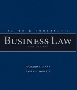 Smith and Robersonメs Business Law 16th 16E